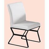 Vince梯型黑腳皮餐椅495-15(白)