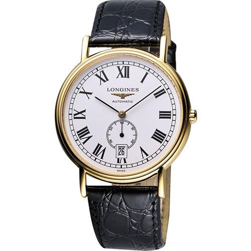 LONGINES Presence 小秒針機械腕錶~金黑 L48052112