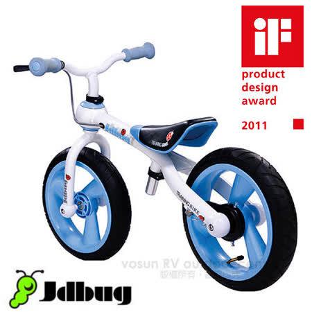 【Jdbug】12吋兒童滑步車 學步車 兒童車 小瓢蟲兒童自行車款(firstbike)/歐盟CE認證/2011德國IF產品設計獎 TC09/藍