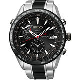 SEIKO ASTRON GPS 太陽能白【鈦】陶瓷電波腕錶-黑 7X52-0AF0D