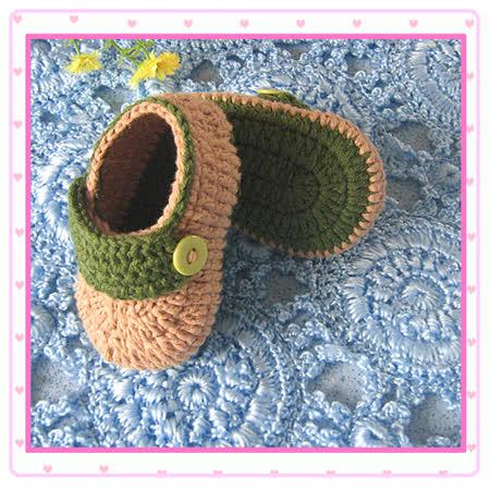 (任選)手工編織寶寶鞋襪(綠)