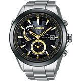 SEIKO ASTRON GPS 太陽能白【鈦】電波腕錶-黑 7X52-0AA0K