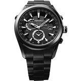 SEIKO ASTRON GPS 電波太陽能鈦金屬腕錶-IP黑 7X52-0AA0SD
