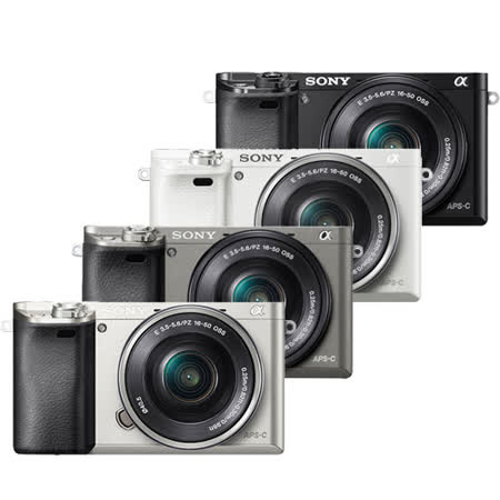 SONY A6000L 16-50mm 變焦鏡組(公司貨).-送32GC10卡+專用鋰電池+相機包+充電器+保護鏡+大吹球+拭鏡筆+拭鏡布+保護貼+讀卡機+小腳架+HDMI