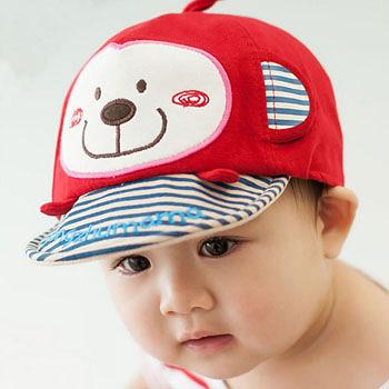 (任選)韓版-小猴子棒球鴨舌帽