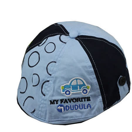 (任選)韓版-小汽車造型鴨舌帽(藍色)