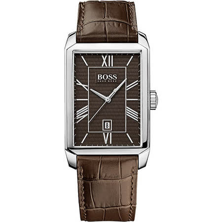 Hugo Boss 簡約羅馬時尚腕錶-咖啡 H1512969