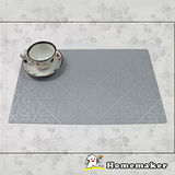 【Homemaker】古典菱紋銀餐墊_RN-TD223-001 (4入)