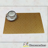 【Homemaker】古典菱紋金餐墊_RN-TD223-003 (4入)