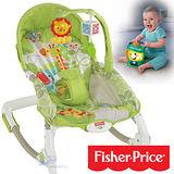 費雪牌 Fisher-Price 熱帶雨林好朋友可攜式兩用安撫躺椅+學習小提燈