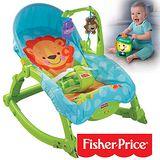 費雪牌 Fisher-Price 可愛動物可攜式兩用安撫躺椅+學習小提燈