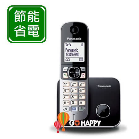Panasonic DECT國際牌數位無線電話機 KX-TG6811 / KX TG6811 (鈦金黑)