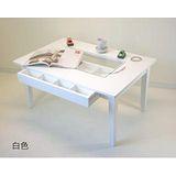 【空間生活】八宮格玻璃收納茶几桌(白)