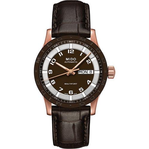 MIDO Multifort 先鋒系列 機械腕錶~咖啡x玫塊金 M018830362920