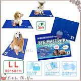 日本KOJIMA 狗.貓超涼舒適果凍凝膠軟式涼墊 涼床 加大LL號 90x50cm 黃金 拉拉可用