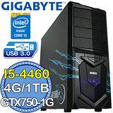 技嘉B85平台【魔龍騎士】Intel第四代i5四核 GTX750-1G獨顯 1TB燒錄電腦