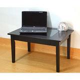 【空間生活】六宮格長方玻璃桌(黑)