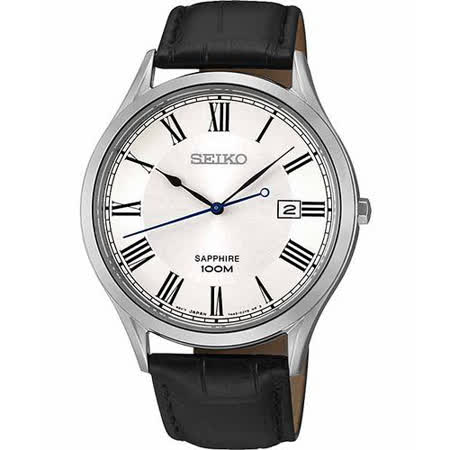 SEIKO 復刻玩家藍寶石水晶腕錶-銀/40mm 7N42-0FW0J(SGEG97P2)
