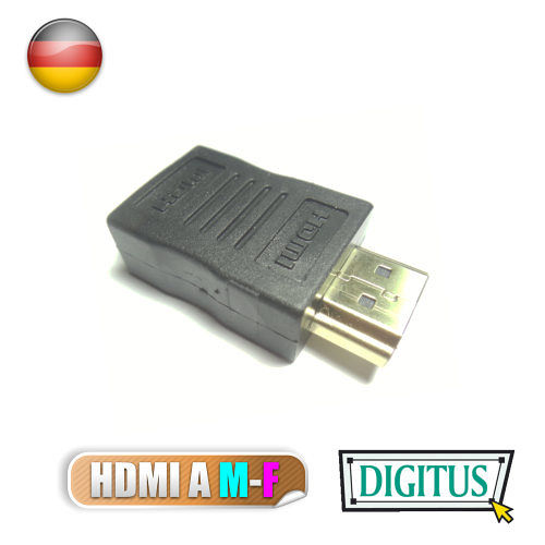 曜兆DIGITUS^~AB~561^~HDMI 鍍金接頭^(公對母^)~黑色