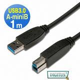 曜兆DIGITUS USB3.0A公轉B公線miniUSB3.0*1公尺黑色