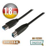 曜兆DIGITUS USB3.0A公轉B公線miniUSB3.0*1.8公尺黑色