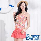 【SUMMERLOVE 夏之戀】黑白點加條紋四件式泳衣S13701