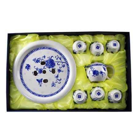 Nudu 精緻青花瓷韻茶具八件式(精美盒裝)