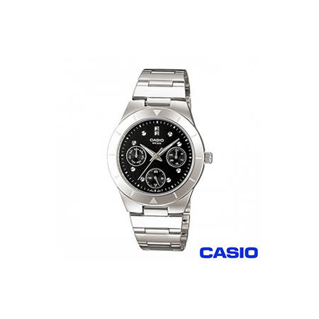 【CASIO卡西歐】三眼優雅石英女錶 LTP-2083D-1A