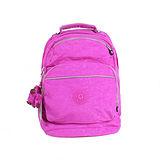 【Kipling】比利時品牌 3M安全反光線條雙口袋後背包 珊瑚粉 K-373-5320-151