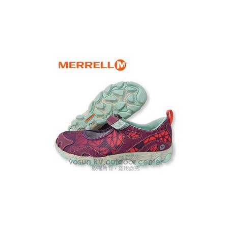 【美國 MERRELL】女款 水陸兩棲健行鞋/運動鞋.娃娃鞋.輕量.適自行車.健走.溯溪.慢跑.止滑/葡萄紫 J24556