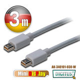 曜兆DIGITUS Mini DisplayPort-3公尺圓線(公-公)