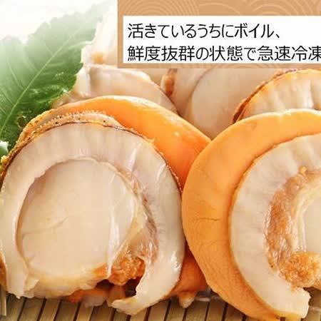 【上野物產】熟凍帆立貝(1000g土10%/約23顆),1包