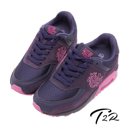 【韓國T2R】韓劇熱門款 9公分雙氣墊隱形增高休閒鞋 紫(5600-0176)