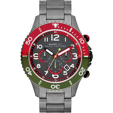 【私心大推】gohappyMarc Jacobs Rock 搖滾魅力計時腕錶-鐵灰 MBM5056去哪買新竹 新光 三越