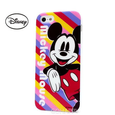 日本進口Disney【彩漾mickey mouse】iphone5S/5軟式手機背蓋