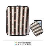 《Traveler Station》HAPI+TAS iPad mini 護套-咖啡線條蝴蝶結