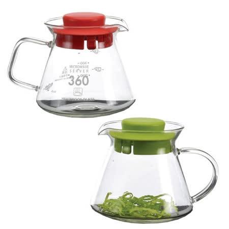 SYC精緻耐熱花茶壺BHG360S-紅綠蓋二入任組