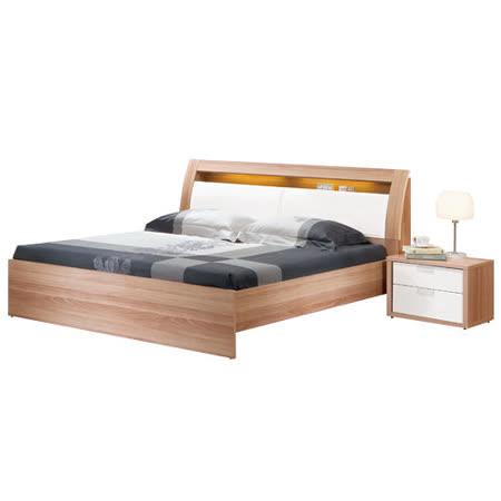 HAPPYHOME 妮克絲5尺被櫥式雙人床091-2(只含床頭-床架-不含床墊、床頭櫃)