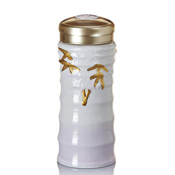 乾唐軒活瓷‧竹節隨身杯(大 / 雙層 / 鎏金+紫)