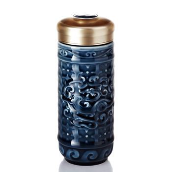 乾唐軒活瓷‧勢在必得隨身杯(大 / 雙層 / 礦藍釉)