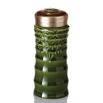 乾唐軒活瓷‧竹節隨身杯 ( 大 / 單層 / 綠釉 )