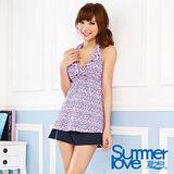【SUMMERLOVE 夏之戀】小碎花長版三件式泳衣S14701