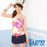 【SUMMERLOVE 夏之戀】熱帶印花長版三件式泳衣S14704