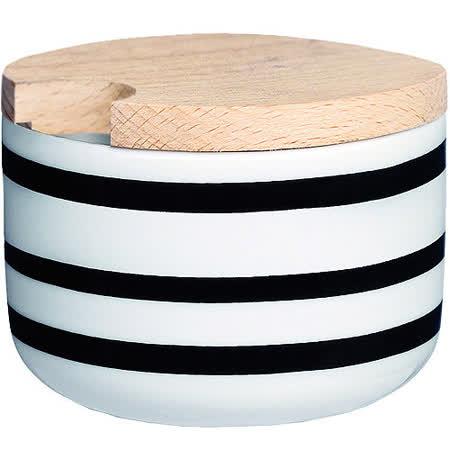 《KAHLER》Omaggio木蓋糖碗(黑)