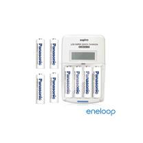 Panasonic國際牌eneloop低自放充電電池組(液晶衝電器+3號8入)