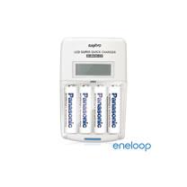 Panasonic國際牌eneloop低自放充電電池組(液晶衝電器+4號4入)