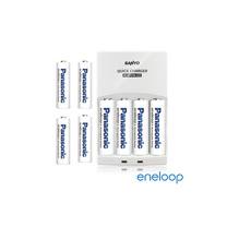 Panasonic國際牌eneloop低自放充電電池組(智慧型充電器+3號4入+4號4入)