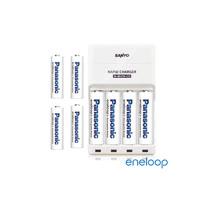 Panasonic國際牌eneloop低自放充電電池組(高效能充電器+3號4入+4號4入)