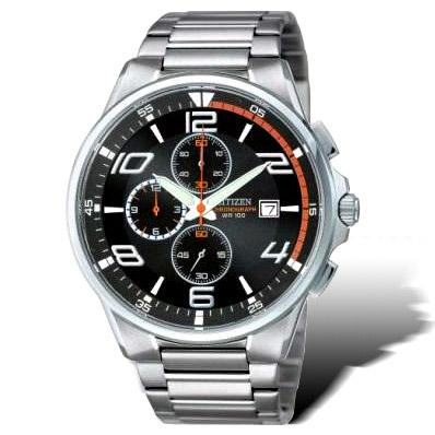 CITIZEN OXY系列 科技新貴運動腕錶(黑)