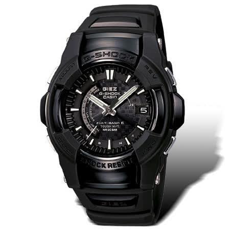 CASIO G-SHOCK GIEZ系列 榮耀勇士計時電波錶(全黑)